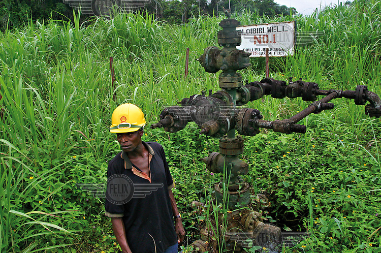 The remains of an oil well, the first one to be drilled in Otabagi, in January 1956, by Shell D'Arcy, the original name of Shell Petrol Development Company (SPDC).