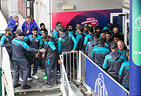 The  players shake hands on the abandonment of the fixture during Pakistan vs Sri Lanka, ICC World Cup Cricket at the Bristol County Ground on 7th June 2019