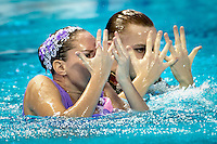 MALTSEV Aleksandr; VALITOVA Darina RUS Russia<br /> Kazan Arena Synchro Sincro Mixed Duet Technical Final<br /> Day03 26/07/2015<br /> XVI FINA World Championships Aquatics Swimming<br /> Kazan Tatarstan RUS July 24 - Aug. 9 2015 <br /> Photo G.Scala/Deepbluemedia/Insidefoto