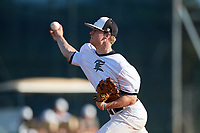 Brady Barnes during the WWBA World Championship at the Roger Dean Complex on October 19, 2018 in Jupiter, Florida.  Brady Barnes is a right handed pitcher from Decatur, Alabama who attends Decatur High School.  (Mike Janes/Four Seam Images)