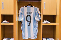 East Rutherford, NJ - Sunday June 26, 2016: Argentina, Gonzalo Higuain prior to a Copa America Centenario finals match between Argentina (ARG) and Chile (CHI) at MetLife Stadium.
