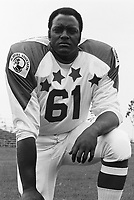 Ed McQuarters 1970 Canadian Football League Allstar team. Copyright photograph Ted Grant/