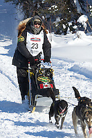 Gerry Willomitzer on Long Lake at the Re-Start of the 2012 Iditarod Sled Dog Race