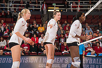 Stanford, CA -- December 2, 2016. Stanford Cardinal Women's Volleyball vs. Denver. NCAA Play-offs. Final score Stanford 3, Denver 0.