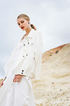 "Fashion with Mirella ,"" White  "" at  shot at Pt Noarlunga , Model Kate Cameron-Smith Photo: Nick Clayton"
