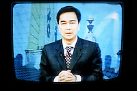 Prime minister of Thailand, Abhisit Vejjajiva is speaking on tv for the first time since bloody clashes of the sunday 10 april. He's announcing that the chief of the army - Anupong Paojinda - is taking charge of restoring order in Bangkok. Friday April 17 2010