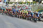 The peloton in action during Stage 2 of the 54th Presidential Tour of Turkey 2018, running 150km from Alanya to Antalya, Turkey. 10th October 2018.<br /> Picture: Brian Hodes/VeloImages | Cyclefile<br /> <br /> <br /> All photos usage must carry mandatory copyright credit (&copy; Cyclefile | Brian Hodes/VeloImages)