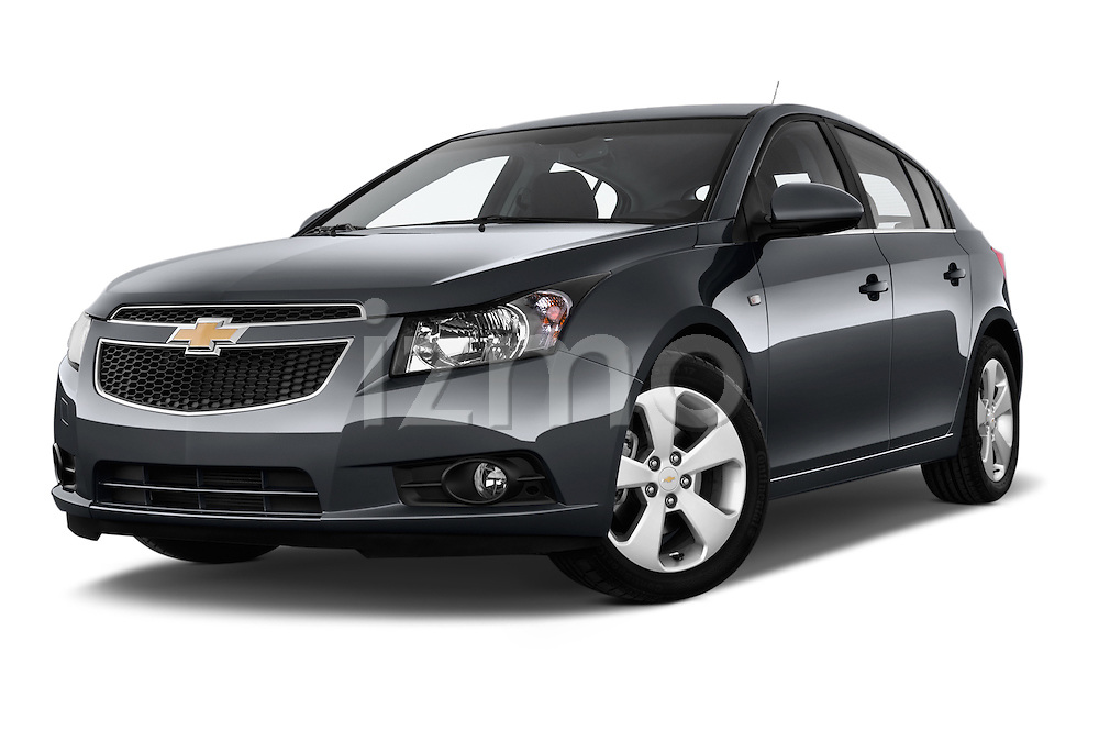 Low aggressive front three quarter view of a 2013 Chevrolet CRUZE LTZ 5 Door Hatchback 2WD