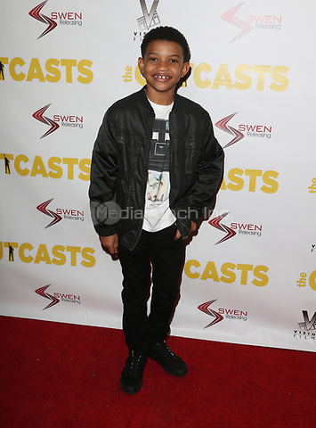 "WESTWOOD, CA - April 13: Lonnie Chavis, At Premiere Of Swen Group's ""The Outcasts"" At The Landmark Regent  In California on April 13, 2017. Credit: FS/MediaPunch"
