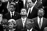 SEPTEMBER 11, 2006: Rep. J.D. Hayworth, R-Ariz., closes his eyes during the benediction delivered by House Chaplain as House and Senate members gathered on the East Front of the Capitol for the Congressional Remembrance of 9/11 to mark the 5 year anniversary of the terrorist attacks on Sept. 11, 2001.