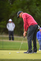 Jhonattan Vegas (VEN) watches his putt on 14 during Round 1 of the Valero Texas Open, AT&amp;T Oaks Course, TPC San Antonio, San Antonio, Texas, USA. 4/19/2018.<br /> Picture: Golffile | Ken Murray<br /> <br /> <br /> All photo usage must carry mandatory copyright credit (&copy; Golffile | Ken Murray)
