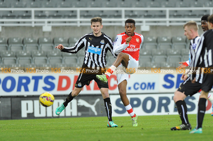 Alex Inobi of Arsenal scores the opening goal of the game - Newcastle United Under-21 vs Arsenal Under-21 - Barclays Under-21 Premier League Football at St James Park, Newcastle United FC - 09/02/15 - MANDATORY CREDIT: Steven White/TGSPHOTO - Self billing applies where appropriate - contact@tgsphoto.co.uk - NO UNPAID USE