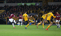 West Ham United's Pedro Obiang with a shot at goal<br /> <br /> Photographer Rob Newell/CameraSport<br /> <br /> The Premier League - Wolverhampton Wanderers v West Ham United - Tuesday 29th January 2019 - Molineux - Wolverhampton<br /> <br /> World Copyright © 2019 CameraSport. All rights reserved. 43 Linden Ave. Countesthorpe. Leicester. England. LE8 5PG - Tel: +44 (0) 116 277 4147 - admin@camerasport.com - www.camerasport.com
