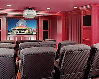 Home Theater With Ceiling Projector