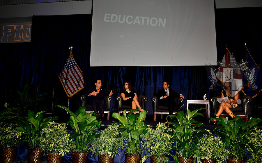 """MIAMI, FL - SEPTEMBER 28: Dr. José A. Vicente, President, Miami Dade College's Wolfson Campus,  Elizabeth Bejar, VP of Academic Affairs, FIU, Alberto Carvalho, Superintendent of Miami-Dade County Public Schools and Soledad O'Brien attends and Hosts the """"I Am Latino In America"""" conversation and Speaking tour at Florida International University presented by Northwestern Mutual on Monday September 28, 2015 in Miami, Florida. ( Photo by Johnny Louis / jlnphotography.com )"""