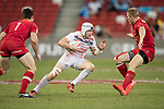 Phil Burgess of England runs with the ball during the match Canada vs England, Day 2 of the HSBC Singapore Rugby Sevens as part of the World Rugby HSBC World Rugby Sevens Series 2016-17 at the National Stadium on 16 April 2017 in Singapore. Photo by Victor Fraile / Power Sport Images