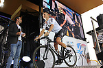 Vasil Kiryienka (BLR) Team Sky on stage at the Team Presentation in Burgplatz Dusseldorf before the 104th edition of the Tour de France 2017, Dusseldorf, Germany. 29th June 2017.<br /> Picture: Eoin Clarke | Cyclefile<br /> <br /> <br /> All photos usage must carry mandatory copyright credit (&copy; Cyclefile | Eoin Clarke)