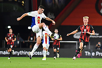 Sam Woods of Crystal Palace controls the ball under pressure from Sam Surridge of Bournemouth during AFC Bournemouth vs Crystal Palace, Carabao Cup Football at the Vitality Stadium on 15th September 2020
