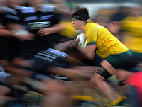 Millie Boyle takes the ball into contact during the 2017 International Women's Rugby Series rugby match between the NZ Black Ferns and Australia Wallaroos at Rugby Park in Christchurch, New Zealand on Tuesday, 13 June 2017. Photo: Dave Lintott / lintottphoto.co.nz
