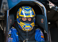 Oct 13, 2018; Concord, NC, USA; NHRA funny car driver Ron Capps during qualifying for the Carolina Nationals at zMax Dragway. Mandatory Credit: Mark J. Rebilas-USA TODAY Sports
