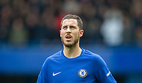 Eden Hazard of Chelsea during the Premier League match between Chelsea and Tottenham Hotspur at Stamford Bridge, London, England on 1 April 2018. Photo by Andy Rowland.