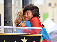 LOS ANGELES, CA. January 28, 2019: Taraji P. Henson & Mary J. Blige at the Hollywood Walk of Fame Star Ceremony honoring Taraji P. Henson.<br /> Pictures: Paul Smith/Featureflash