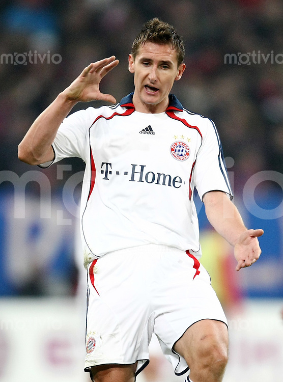 FUSSBALL     1. BUNDESLIGA/DFB POKAL     SAISON 2007/2008 Miroslav KLOSE (FC Bayern Muenchen)