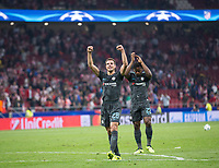 Chelsea´s Cesar Azpilicueta celebrating during the UEFA Champions League group C match between Atletico Madrid and Chelsea played at the Wanda Metropolitano Stadium in Madrid, on September 27th 2017.