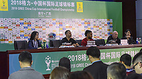 Ryan Giggs (Manager) & Ashley Williams of Wales during the Wales press conference on 21 March 2018 ahead of China Cup International Football Championship, Nanning city, Guangxi Zhuang Autonomous Region, China. Photo by Sipa / PRiME Media Images.
