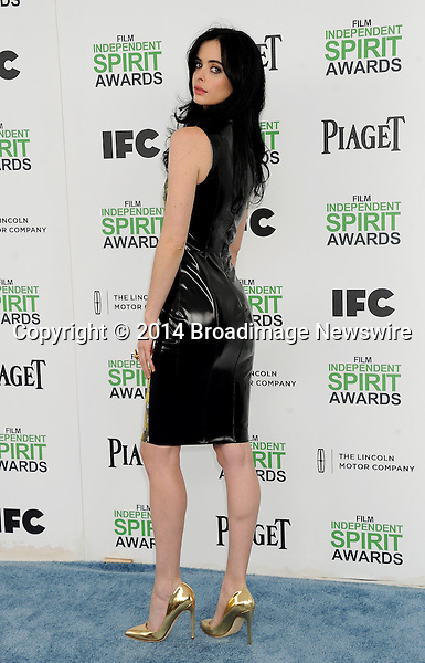 LPictured: Krysten Ritter<br /> Mandatory Credit &copy; Gilbert Flores/Broadimage<br /> 2014 Independent Spirit Awards<br /> <br /> 3/1/14, Santa Monica, California, United States of America<br /> <br /> Broadimage Newswire<br /> Los Angeles 1+  (310) 301-1027<br /> New York      1+  (646) 827-9134<br /> sales@broadimage.com<br /> http://www.broadimage.com