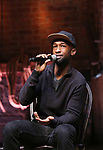 """Donald Webber from the 'Hamilton' cast during a Q & A before The Rockefeller Foundation and The Gilder Lehrman Institute of American History sponsored High School student #EduHam matinee performance of """"Hamilton"""" at the Richard Rodgers Theatre on 5/10/2017 in New York City."""