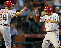 Victorino, Shane 6031.jpg Philadelphia Phillies at Houston Astros. Major League Baseball. September 7th, 2009 at Minute Maid Park in Houston, Texas. Photo by Andrew Woolley.