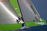Team Origin GBR88 .II TROFEO DESAFÍO ESPAÑOL - Club Náutico Español de Vela, Port America's Cup, Valencia, España/Spain. 7th to the 9th of November 2008. America's Cup Class V5 competition with Desafío Español ESP97, Team Origin GBR88, Alinghi SUI100, Luna Rossa ITA94 and near one hundred of yachts will participate.