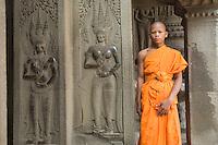 Monk at Ta Prohm.