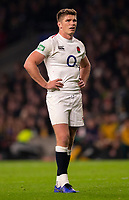 England's Owen Farrell<br /> <br /> Photographer Bob Bradford/CameraSport<br /> <br /> 2018 Quilter Internationals - England v Australia - Saturday 24th November 2018 - Twickenham - London<br /> <br /> World Copyright &copy; 2018 CameraSport. All rights reserved. 43 Linden Ave. Countesthorpe. Leicester. England. LE8 5PG - Tel: +44 (0) 116 277 4147 - admin@camerasport.com - www.camerasport.com