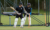 Cricket Scotland - Scotland training at Ayr CC ahead of this week's 4 day Intercontinental Cup match against Namibia - the match begins tomorrow (Tuesday) with an 11am start on each day - Richie Berrington and Matty Cross - picture by Donald MacLeod - 05.06.2017 - 07702 319 738 - clanmacleod@btinternet.com - www.donald-macleod.com
