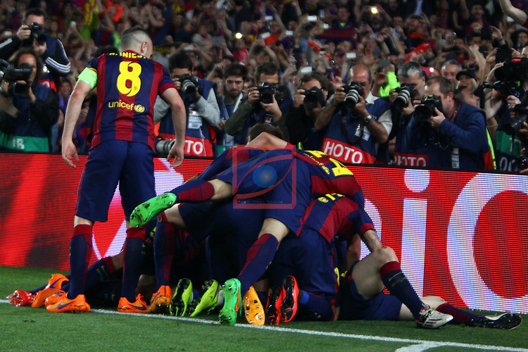 UEFA Champions League 2014/2015. <br /> Semi-finals 1st leg.<br /> FC Barcelona vs FC Bayern Munchen: 3-0.