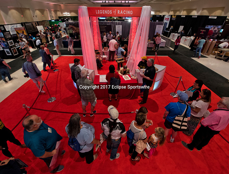 SARATOGA SPRINGS, NY - AUG 13: Jockey Author's Hub at the Inaugural Equestricon Convention on August 13, 2017 in Saratoga Springs, New York. photo by Eclipse Sportswire/Equestricon