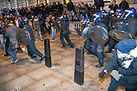 © Joel Goodman - 07973 332324 . 09/12/2010 . London , UK . Students and their supporters clash with police during a demonstration in Parliament Square in London against government cuts to student support , Educational Maintenance Allowance ( EMA ) and rising university tuition fees . Photo credit : Joel Goodman