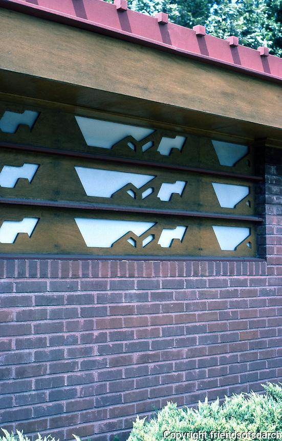 F.L. Wright: Kundert Medical Bldg., 1956. Detail.  Photo '77.