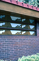 F.L. Wright: Kundert Medical Bldg., 1956. Detail.  Photo '77.