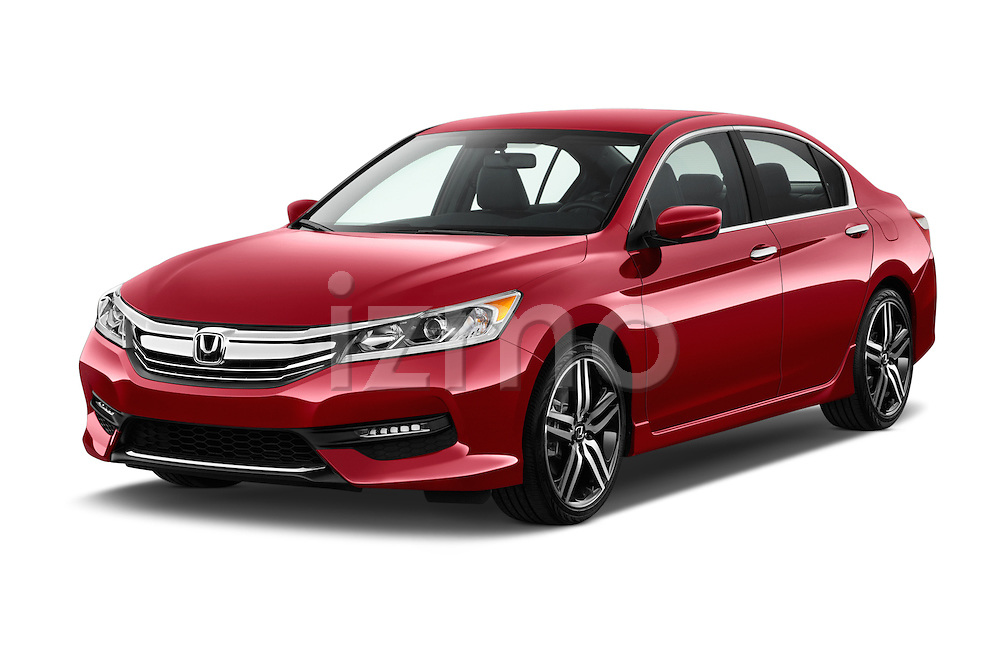2016 Honda Accord Sport 4 Door Sedan Angular Front stock photos of front three quarter view