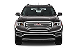 Car photography straight front view of a 2017 GMC Acadia SLT-1-FWD 5 Door SUV Front View
