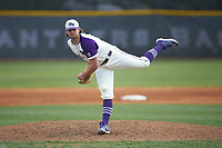High Point Panthers relief pitcher Cooper Jeffers (37) in action against the Campbell Camels at Williard Stadium on March 16, 2019 in  Winston-Salem, North Carolina. The Camels defeated the Panthers 13-8. (Brian Westerholt/Four Seam Images)