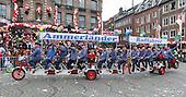 Düsseldorf, Germany. 27 February 2017. Ammerländer Radfahrer, Ammerland Cyclists. Carnival parade on Shrove Monday (Rosenmontag) in Düsseldorf, North Rhine-Westphalia, Germany.