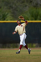 Boston College Eagles left fielder Gabriel Hernandez (23) during a game against the Central Michigan Chippewas on March 8, 2016 at North Charlotte Regional Park in Port Charlotte, Florida.  Boston College defeated Central Michigan 9-3.  (Mike Janes/Four Seam Images)