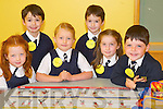 JUNIOR: Junior Infants who attended Caherleaheen National School, Tralee, for the first time on Monday. L-r: Muireann White, Jordan Browne, Laura Talbot, Tyler Browne, Ella Curtin and Peter Kearns (Tralee).