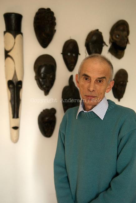 Pierre Bergounioux at home.