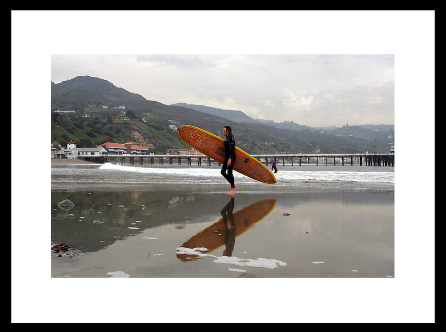 Surfer in Malibu, California. © Andrew Shurtleff