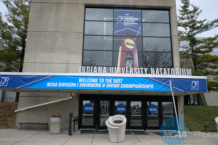 INDIANAPOLIS, IN - MARCH 18: NCAA signage during the Division I Women's Swimming & Diving Championships held at the Indiana University Natatorium on March 18, 2017 in Indianapolis, Indiana. (Photo by A.J. Mast/NCAA Photos via Getty Images)
